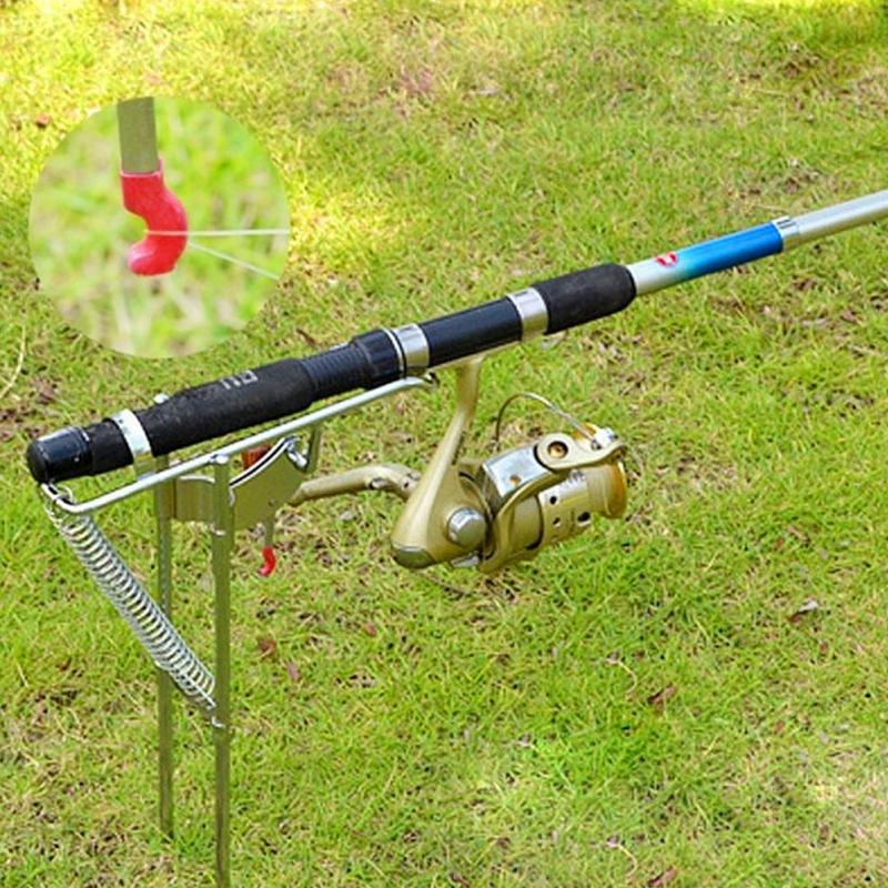 Automatic stainless steel double spring fishing rod pole for Good fishing pole brands