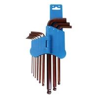 Pro'sKit 8PK 028 9Pcs Ball Point Hex Key Set 1.5,2,2.5,3,4,5,6,8,10mm Wrench Set