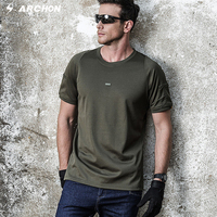 Casual Breathable Military T Shirt For Men Pockets O Neck Short Sleeve T Shirt Coolmax Fitness