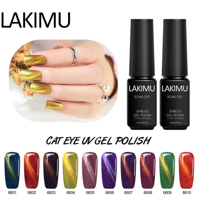 Lakimu 1pcs Magnetic Cat Eye Gel Nail Polish Long Lasting Primer for Nails Gel Polish Nail Art Brush Acryls UV Gel Varnish 7ml