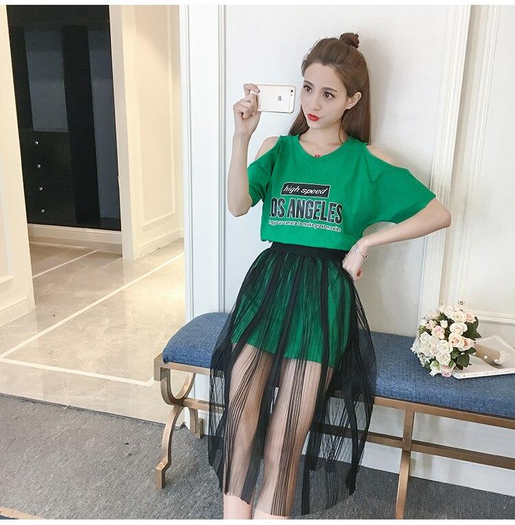 WEIKADUN Tulle Skirt Women Summer Skirt Sexy High Waist Knee Length Black Mesh Lace Skirt transparent A Line Striped 2018 New