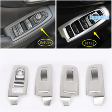Lapetus Inner Door Armrest Window Switch Control Panel Decoration Frame Cover Trim Stainless Steel Fit For Subaru Forester 2019