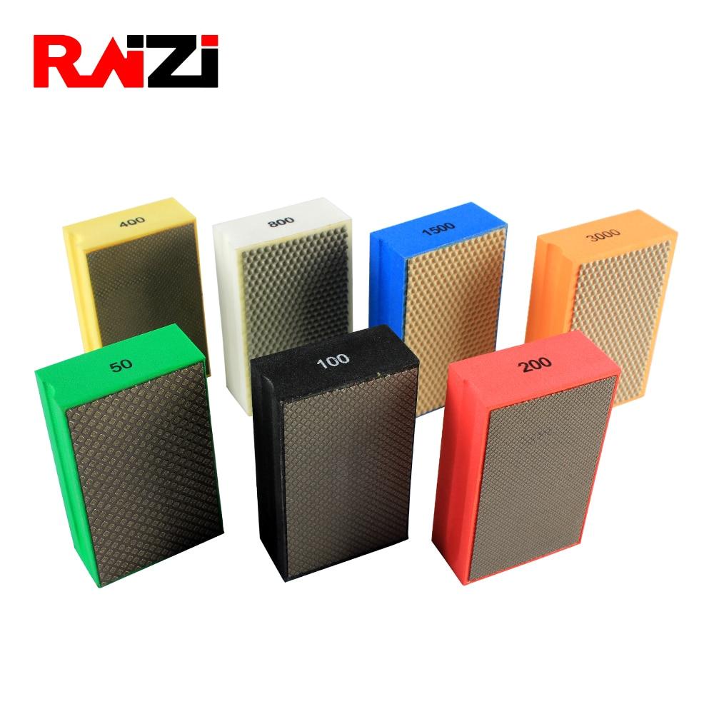 Raizi 90*55 Mm Electroplated/Resin Diamond Hand Polishing Pads Polishing Tools For Stone Abrasive Pads