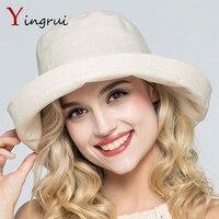דייג חוף כובע שמש bowknot מוצק הכותנה הקיץ של נשים דלי כובע cap לילדה נקבה