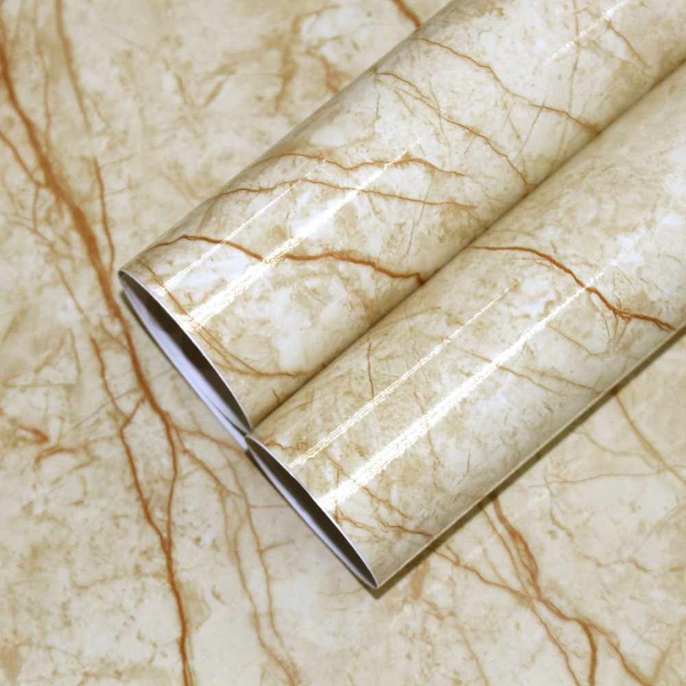 US $26 9 |HaokHome 3d Granite Marble Peel and Stick Wallpaper for wall  Contact Paper Film Self Adhesive furniture Sticker Counter top-in  Wallpapers