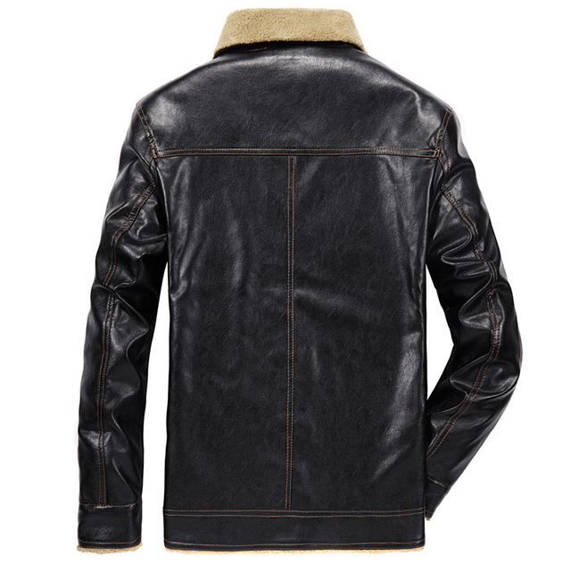 Mountainskin 2018 New Men's Leather Jacket PU Coats Mens Brand Clothing Thermal Outerwear Winter Fur Male Fleece Jackets SA533