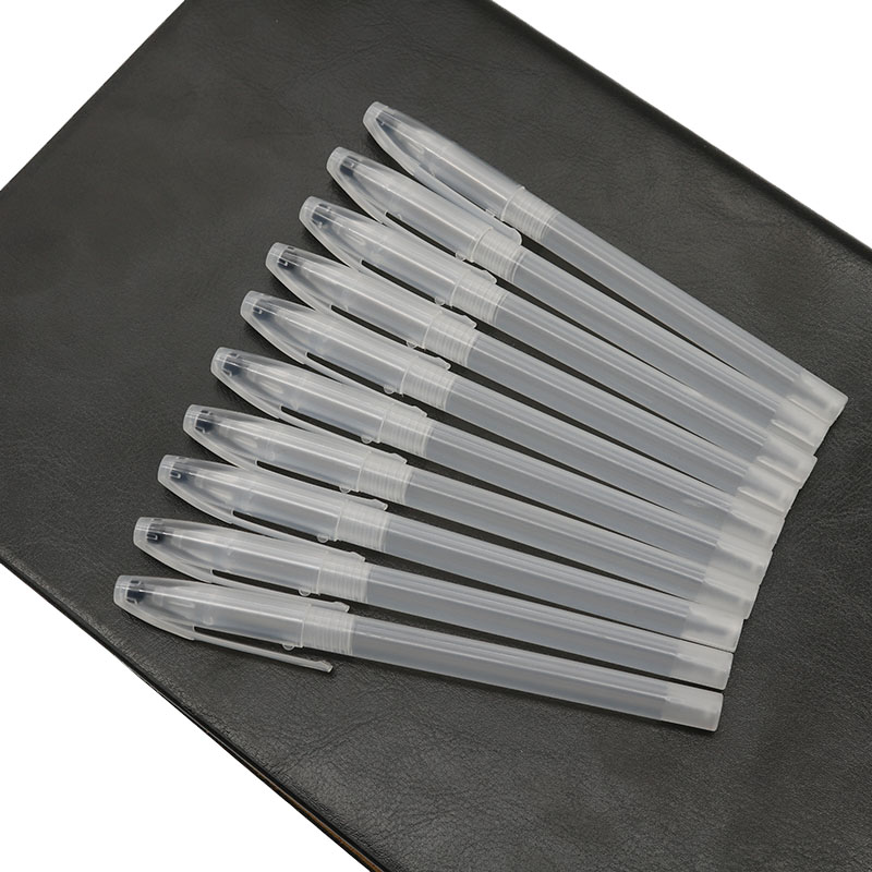 Wholesale! 10Pc Gel Pen Case Ballpoint Pen Transparent Handle Shell Cover Simple Styple Minimum Handle Cover Shell