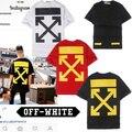 T-shirt Das Mulheres Dos Homens de alta Qualidade Off White Abrir Off White T-shirt Oeste Hip Hop Kanye West Virgil Abloh Off White Top Tee Logotipo CAIXA
