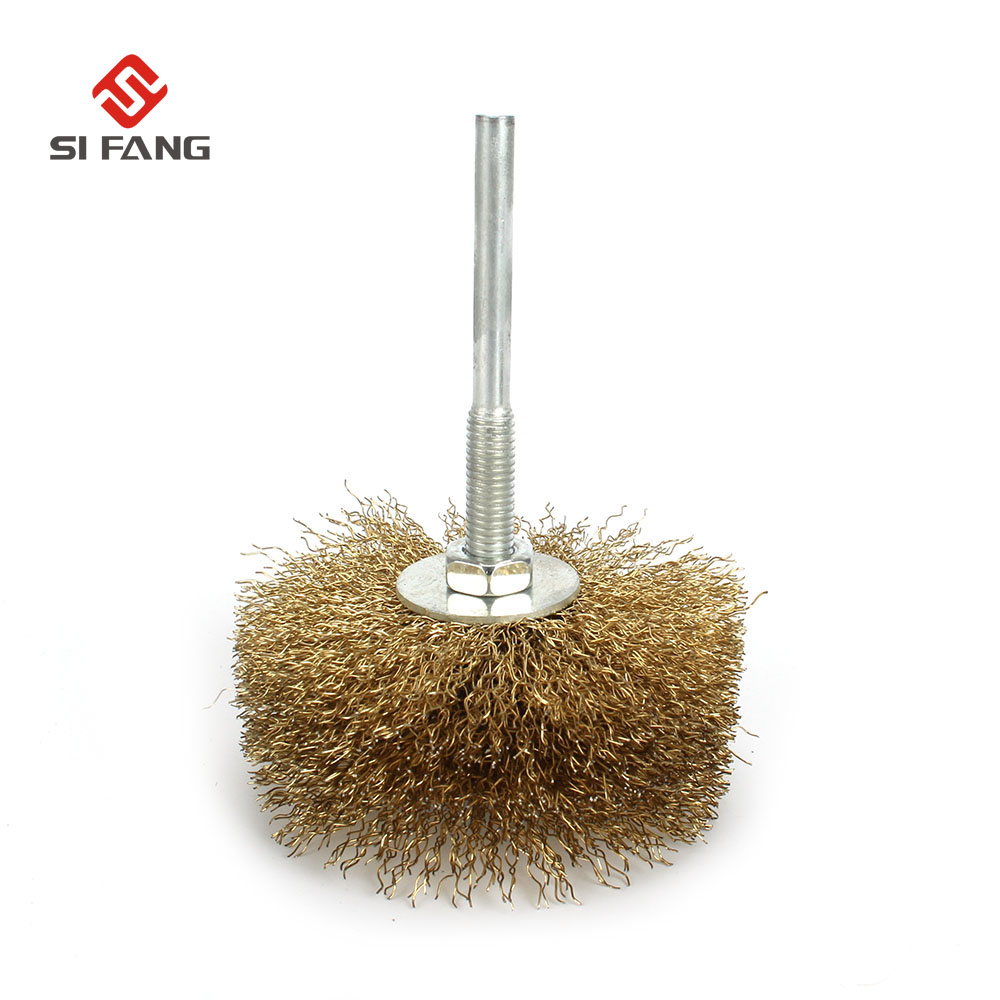 1Pc Polished Steel Wire Brush Wheel 80*6mm Wire Rust Grinding Petiole For Rotary Tool Electric Abrasive Tools