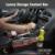 SHEATE hendidura de usos Múltiples de cuero de Lujo caja de almacenamiento organizador del Interior del coche Soporte Para Teléfono Inteligente botella taza de la Bebida de montaje de Acero caja de la moneda