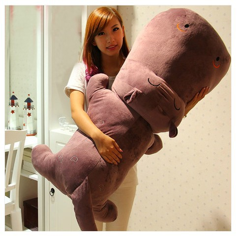 the huge  lovely hippo toy plush doll cartoon hippo doll gift toy about 160cm purple the huge lovely hippo toy plush doll cartoon hippo doll gift toy about 160cm purple