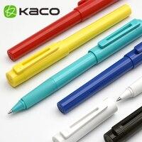 Kaco Sky Hohl Clip Roller Ball Pen 0 5mm Glatte Schreiben Rollerball Stifte 6 Farben Schwarz tinte refill Schule und büro Liefert auf