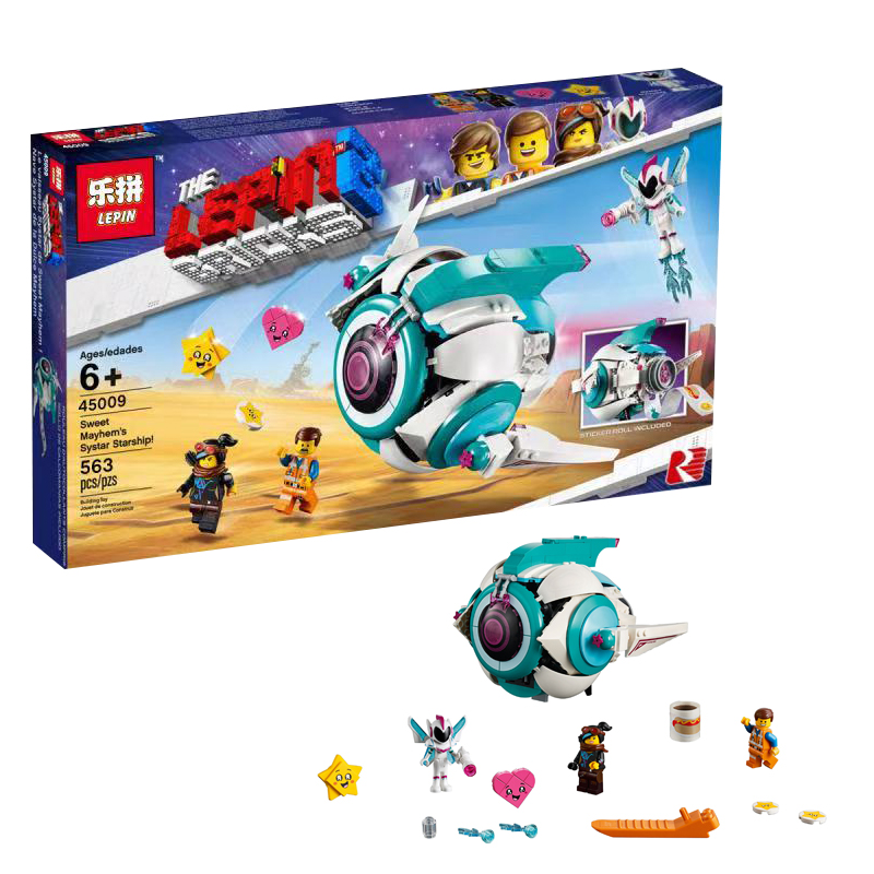 563pcs Sweet Mayhem's Systar Starship Compatible 70830 Set Building Blocks Bricks Educational Toys Christmas Gifts
