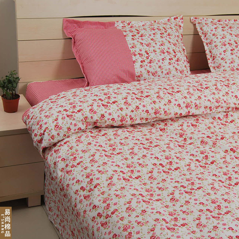 vintage rural red rose bedding setscotton pink floral beddingfree shipping4pc korean bedding setin bedding sets from home u0026 garden on
