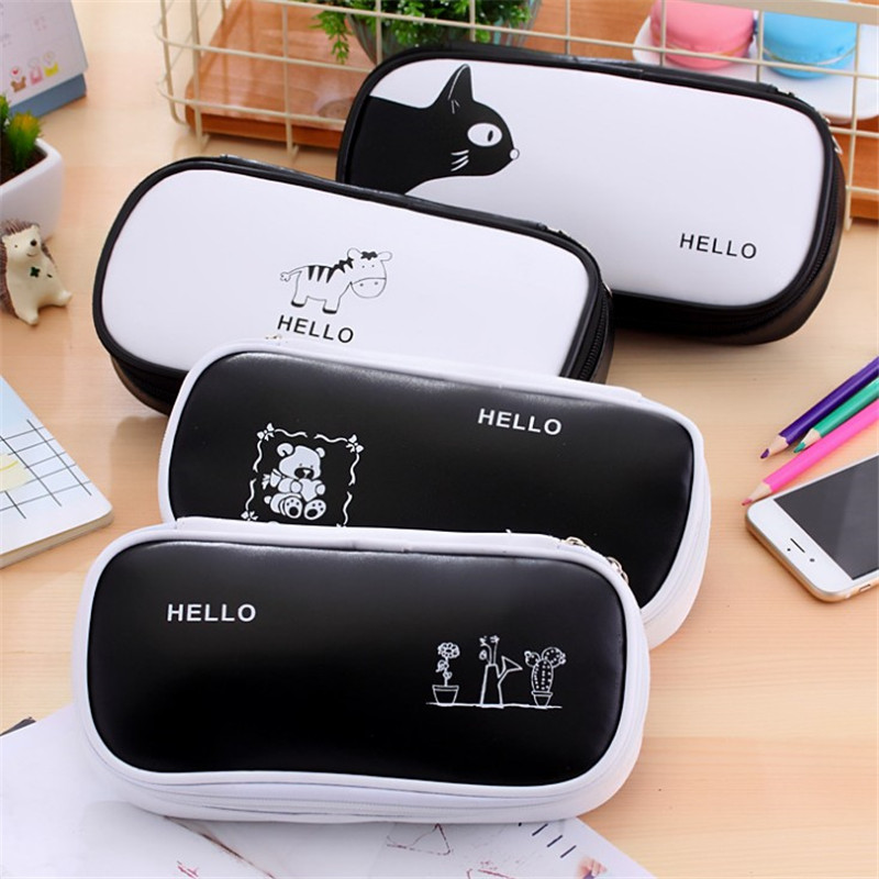 Large Capacity Pencil Case Multifunctional Pencilcase Stationery Box Cover Kawaii Pencil Cases School Offices Supplies noverty large capacity multifunctional canvas pencil cases boys girls stationery bags for school supplies material escolar 04803