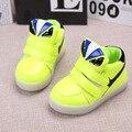 De la policía de conejo marca luminoso sport shoes sneakers shoes niñas niño iluminación led up kids ras shoes botas de bebé