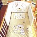4 unid bebé cuna de bebé juego de dormitorio nursery bedding set para bebé recién nacido niñas y niños, calidad de algodón cuna bedding para cualquier seaaon