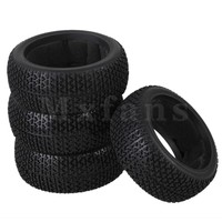 4x T Type Pattern Sponge Insert Rubber Tyre For RC 1 8 Off Road Black Color