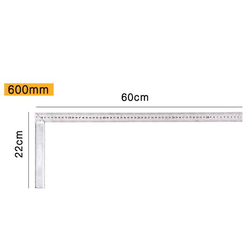 1x250 -500mm 90 Degree Square Set Right Angle Ruler Guide Aluminum Alloy Durable
