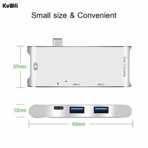 Image 3 - 6 inç 1 USB C HUB adaptörü 4K ekran ile USB 3.0 tip C güç dağıtım SD/TF MacBook Pro için kart okuyucu tipi C Hub Hdmi
