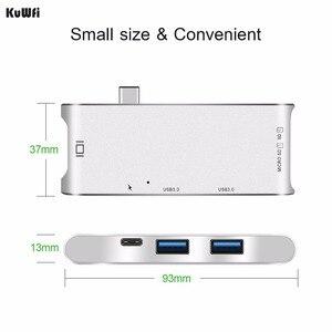 Image 3 - Adaptador de concentrador de 6 pulgadas 1 USB C pantalla 4K USB 3,0 con entrega de potencia Tipo C SD/lector de tarjetas TF para MacBook de tipo profesional C HUB Hdmi