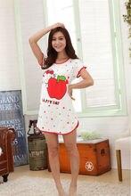 Free Shipping sleepwear princess cotton leisurewear sleepdress nightdress Short sleeve women nightgown sleepshirt
