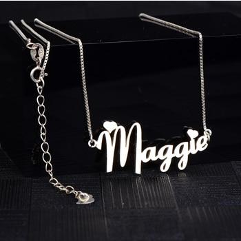 ff40f1b7cb49 RainMarch nombre personalizado collar de las mujeres personalizado colgante  collares de acero inoxidable personalizar collar Regalo de Cumpleaños ...