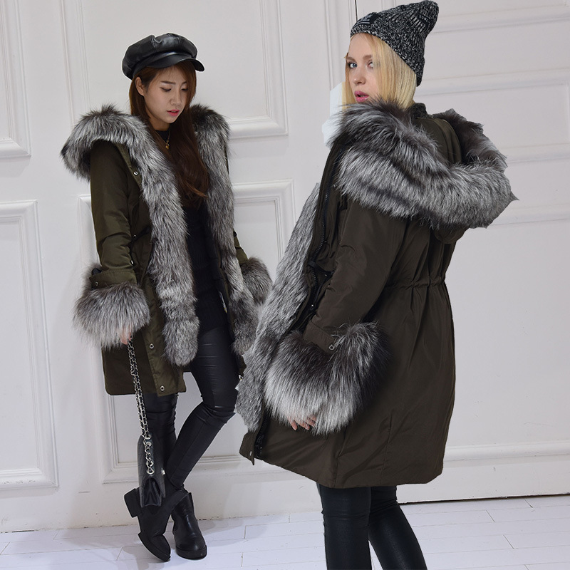 Mit Mantel Frauen 2018 Winterjacke Gq1687 Kapuze SchwarzArmee Casual Gr Pelzkragen Milit Parka Outwear r Fashion European 100echt Top Fox 8nNPym0Ovw