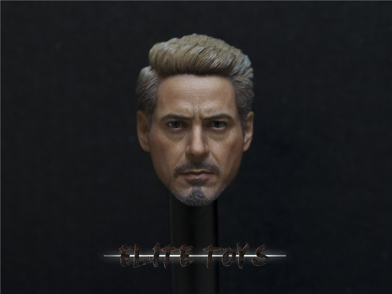 Custom 1/6 Scale Avengers 3: Infinity War Iron Man Tony Stark head Sculpt F 12