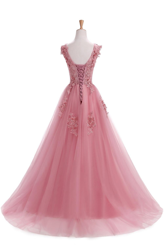 Szata De Soiree Suknie Wieczorowe Długi Plus Rozmiar Tiulu Prom Lace - Suknie specjalne okazje - Zdjęcie 2