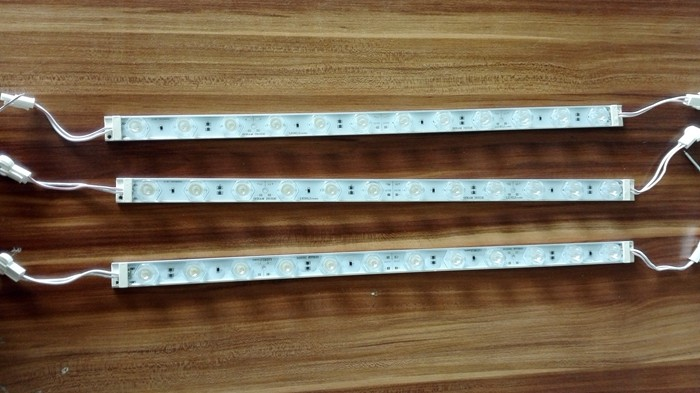 10PCS/ Lot 24VDC 18W Nichia LED Module Lightbar, Edgelit Slim Lightbox Led Module, 1800LM, 56*12degrees Lens