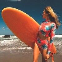 Swimsuit Female Rash Guard For Women Swimwear Bikini Surf Surfing Suit Woman Swimming Long Sleeve Beach Couples Men Pants 2019