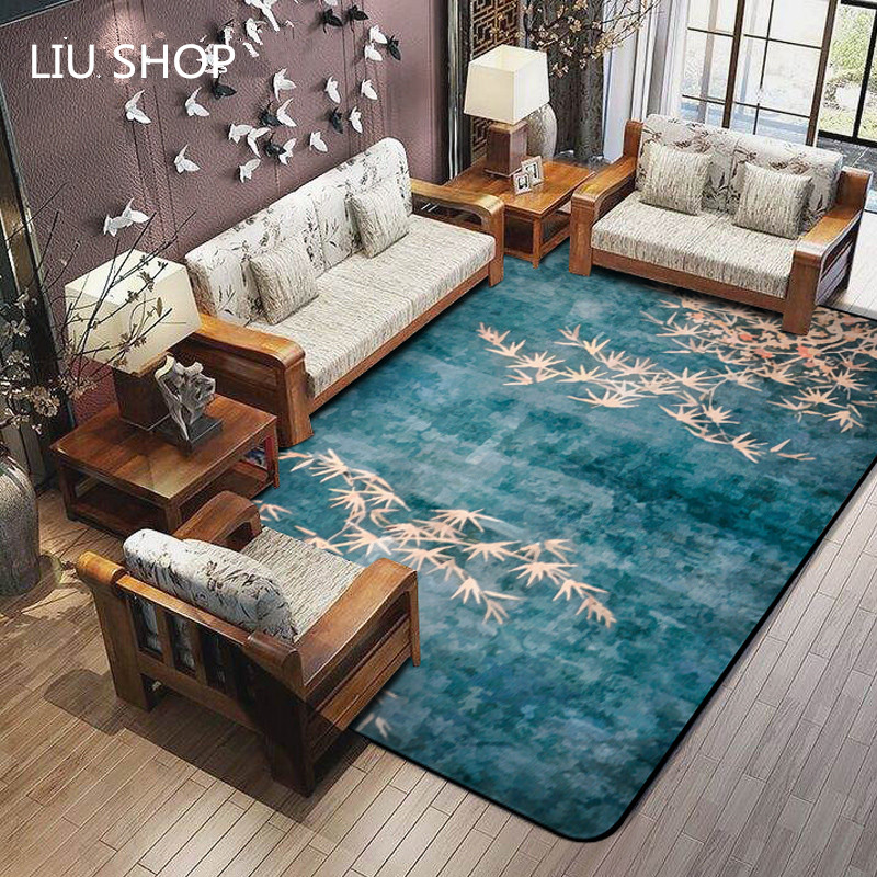 Style chinois salon tapis chine style contracté et contemporain chambre lit propagation tapis rectangle tapis grandes tapetes