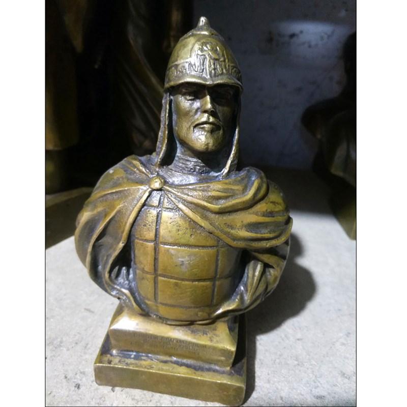 Russa Czar NICOLAU II Samurai Busto Estátua de Bronze Estátua Estatuetas de Arte Decoração da Casa de Artesanato L3429