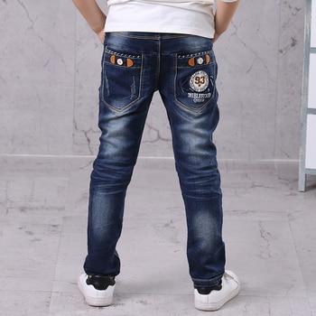 Baby Boys Jeans Pants Fashion Boys Jeans For Spring Fall Children's Denim Trousers Kids Boys Blue Color Designed Kids Boy Pants 1