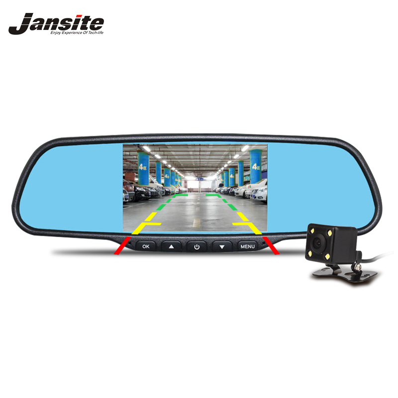 Jansite Voiture DVR Double Lentille Miroir installation du Support De Voiture Caméra 1080 p de vision Nocturne Vidéo Enregistreur Rétroviseur Dash Cam auto