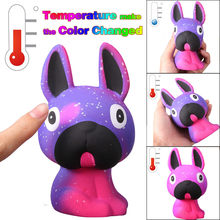 Squish Antistress Jumbo Temperature Color Change Slow Rising Scented squishy Kids Toys Reliever Stress Gift Toys for Children(China)