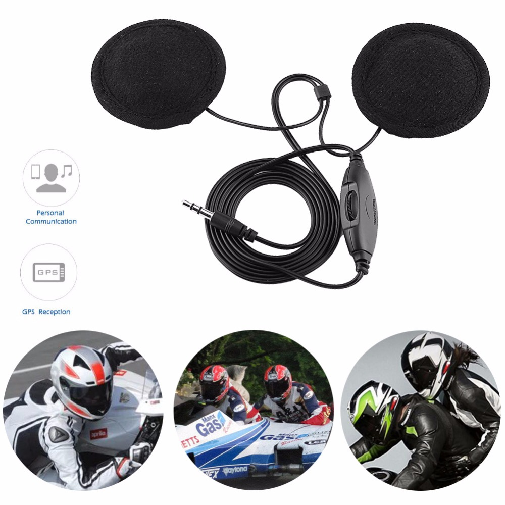 2018 New Motorcycle Helmet Headphone Stereo Interphone Headset Intercom Call Earphone 3.5mm Jack-plug For Mobile Phone MP3
