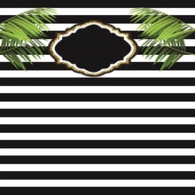 Laeacco Black White Stripes Green Leaves Wedding Baby Photography Background Customized Photographic Backdrops For Photo Studio