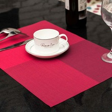 Kitchen Modern PVC Dining Table Placemat Europe Style Kitchen Tool Tableware Pad Coaster Coffee Tea Place Mat 44.7*30cm flower pattern dining table placemat pastoral style tableware pad coaster coffee tea place mat kitchen decoration accessories