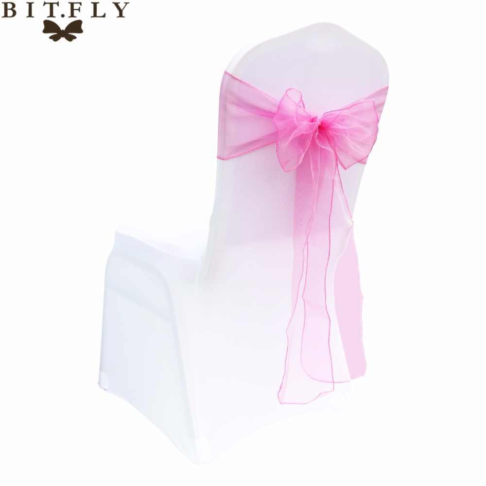 75 шт./лот 18x275 см органзы стул пояса платье с пышной фатиновой юбкой и бантом чехол для свадебного банкета, вечеринки события Xmas домашняя текстильная отделка