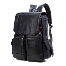 New Backpacks Male High Quality Travel Fashion Men Backpack Mens for Teenager Luxury Designer PU Leather