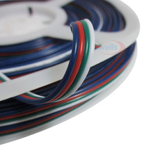 Free shipping 10m/lot 4pins RGB wire &cable for 3528 5050 strip light Wire LED Strip Connect Cable Good quality