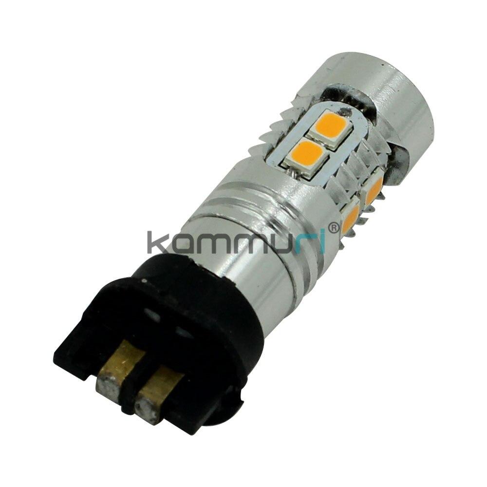 KAMMURI Error Free yellow PWY24W PW24W LED Bulbs For A3 A4 A5 Q3 VW MK7 Golf CC Ford Fusion Front Turn Signal Lights