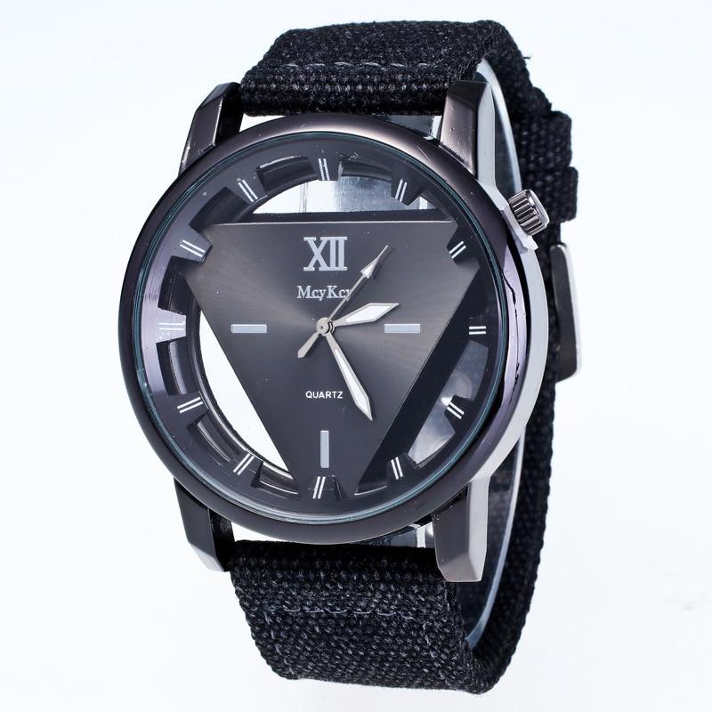2017 Skeleton Watch Triangle Watch Men&women Delicate Transparent Hollow Wrist Watch Quartz Dress Watch Relogio Feminino LJS118