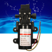 12V DC 60W Mini Water Diaphragm Self Priming Pump Demand Fresh Low Pressure Pumps Easy to install