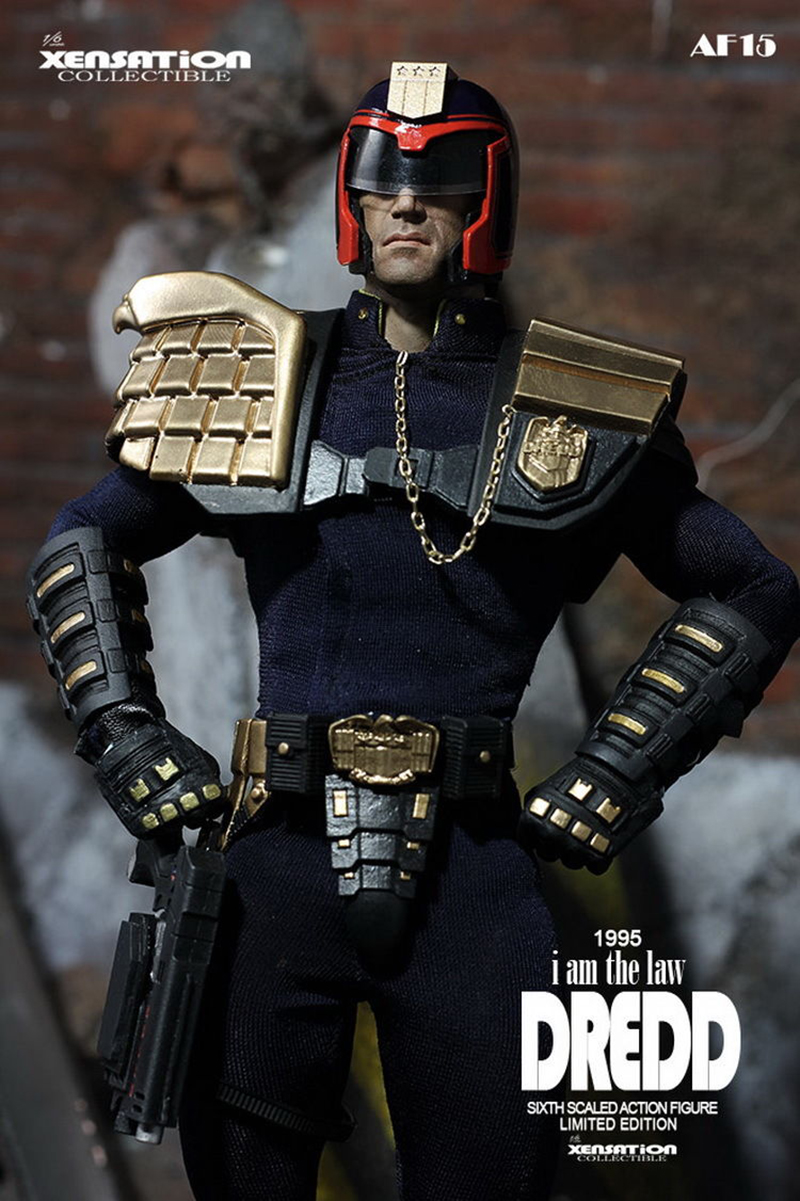 1/6 Scale Full set Xensation Judge Dredd AF15 Police Man Action Figure Model Toy for Collections 1 6 scale resident evil 6 leon scott kennedy full set action figure for collections