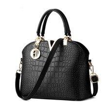 2016 Spring Women Crocodile Bag Euramerican Fashion Female Grain Shell Sac Alligator Package Shoulder Clutch Lady Handbags