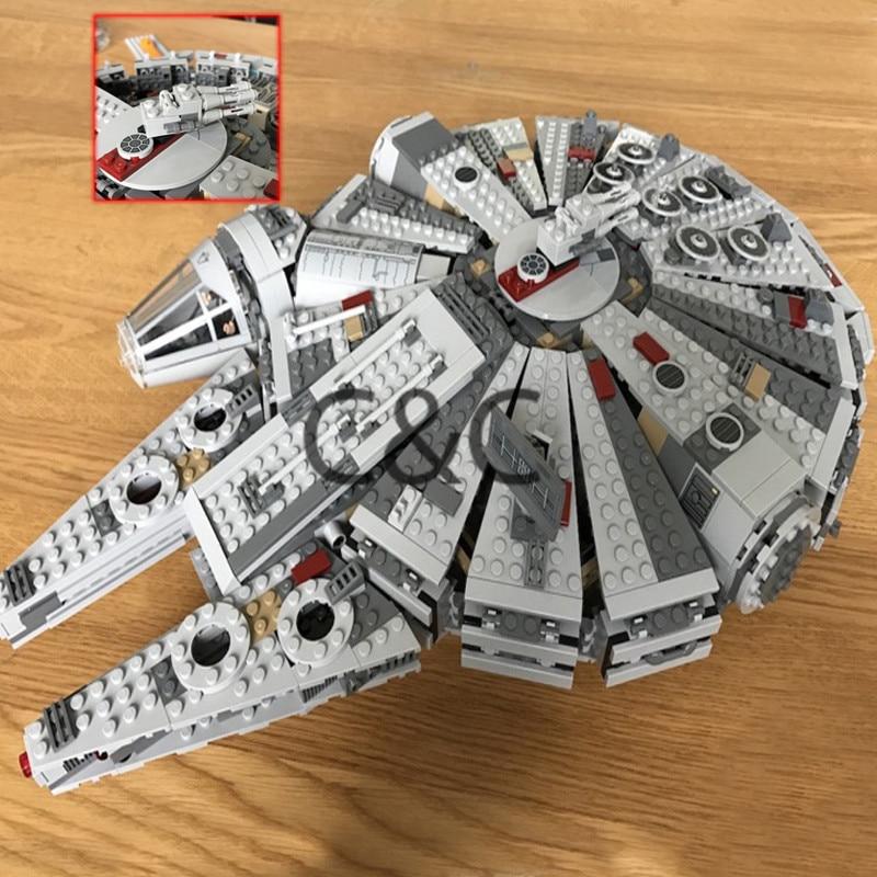 10467 Awakens Millennium Falcon Star Series Building Blocks 1381pcs Toy Children WarBrick Model Kit Compatible 05007 Gift