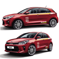World Datong Sport Stripes Car Stickers For KIA RIO car Both side body Customized Decal sport auto stickers